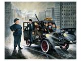 Taxi Giclee-tryk i høj kvalitet af Renate Holzner