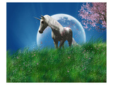 Unicorn in the Field with Moon Prints