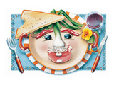 Vegetable Cotlet Face Plate Art by Renate Holzner