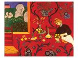 De rode kamer Print van Henri Matisse