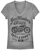 Juniors: Gas Monkey- Biker Babe T-Shirt