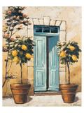 Villa Medici Side Door Giclee-tryk i høj kvalitet af Karsten Kirchner