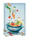 Vegetable Soup Poster by Renate Holzner
