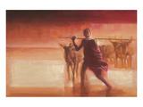 Young Massai Giclee-tryk i høj kvalitet af Talantbek Chekirov