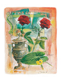 Two Antique Roses Prints by  Joadoor