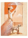 White Lady with Dalmatian Giclee-tryk i høj kvalitet af Joadoor