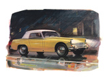 Yellow Austin Healy Sprite Posters