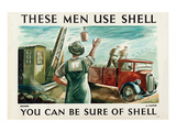 These Men Use Shell - Builders Posters