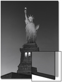 Statue of Liberty at Night - New York City, Landmarks at Night Posters by Henri Silberman