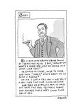 A cartoon panel called Siggy where Sigmund Freud tells a meandering anecdo - New Yorker Cartoon Premium Giclee Print by Jack Ziegler