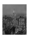 Chrysler Building at Dusk, East View - New York City Iconic Building, Top View Photographic Print by Henri Silberman