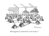"""'Meetingpalooza' sounded better in the brochure."" - New Yorker Cartoon Premium Giclee Print by John Klossner"