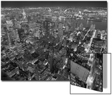 Manhattan, East View, at Night - New York City, Top View with Chrysler Building Prints by Henri Silberman