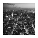 Manhattan, South View from Midtown 3 - New York City at Night, Top View Photographic Print by Henri Silberman