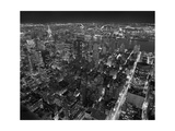 Manhattan, East View, at Night - New York City, Top View with Chrysler Building Photographic Print by Henri Silberman