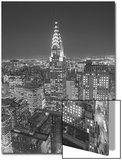 Chrysler Building at Night, East View - New York City Iconic Building, Top View Posters by Henri Silberman