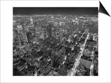 Manhattan, East View, at Night - New York City, Top View with Chrysler Building Kunstdrucke von Henri Silberman