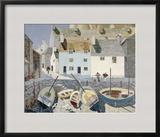 Polperro Framed Giclee Print by Eric Hains
