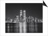 Manhattan, World Financial Center, Night - New York City, Landmarks at Night Poster von Henri Silberman
