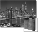 Top View Brooklyn Bridge - New York City Icons Plakater av Henri Silberman