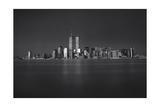 Manhattan, World Financial Center, Dusk - Lower Manhattan at Night Fotografisk tryk af Henri Silberman