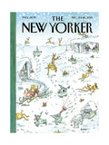 The New Yorker Cover - December 21, 2015 Regular Giclee Print by George Booth