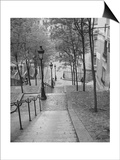 Henri Silberman - Montmartre Steps 2 - Paris, France - Poster