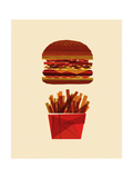 Burger and Fries Giclee Print by Greg Mably