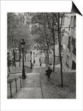 Montmartre Steps 3 - Paris, France Posters av Henri Silberman