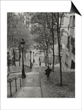 Henri Silberman - Montmartre Steps 3 - Paris, France Obrazy