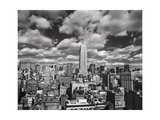 Henri Silberman - Manhattan Clouds - New York City, Top View, Empire State Building Fotografická reprodukce