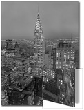 Chrysler Building at Dusk, East View - New York City Iconic Building, Top View Posters by Henri Silberman