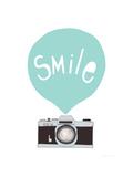 Smil, på engelsk Giclée-tryk af Seventy Tree