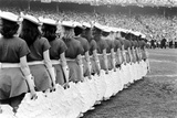 Cotton Bowl Cheerleaders Photographic Print by Robert W. Kelley