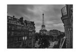 Eiffel Tower Dusk - Paris Landmarks, France Photographic Print by Henri Silberman