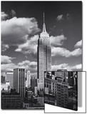 Empire State Building, Shadows, Clouds - New York City, Top View Poster by Henri Silberman