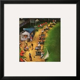 """Golf Driving Range"", July 26, 1952 Framed Giclee Print by John Falter"