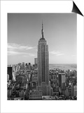 Henri Silberman - Empire State Building, Fifth Avenue - New York City Iconic Building - Poster