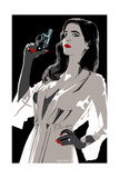 Eva Green - I've Been Especially Bad Giclee Print by Emily Gray