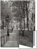 Montmartre Steps 3 - Paris, France Print by Henri Silberman