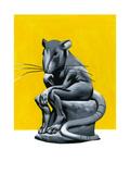 Think Rat Giclee Print by Thomas Fuchs