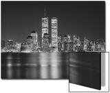 Manhattan, World Financial Center, Night - New York City, Landmarks at Night Poster von Henri Silberman