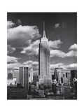 Empire State Building, Shadows, Clouds - New York City, Top View Fotografisk tryk af Henri Silberman