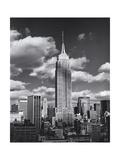Empire State Building, Shadows, Clouds - New York City, Top View Lámina fotográfica por Henri Silberman