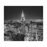 Chrysler Building at Night, East View 2 - New York City Iconic Building, Top View Photographic Print by Henri Silberman