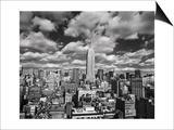 Manhattan Clouds - New York City, Top View, Empire State Building Kunstdrucke von Henri Silberman