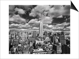 Manhattan Clouds - New York City, Top View, Empire State Building Prints by Henri Silberman