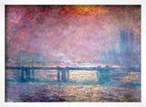 The Thames at Charing Cross, 1903 Framed Giclee Print by Claude Monet