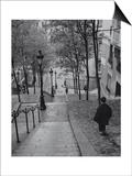 Montmartre Steps - Paris, France Kunstdrucke von Henri Silberman