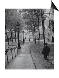 Montmartre Steps - Paris, France Print by Henri Silberman